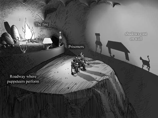 Metaphorical Representation in Platos Allegory of the Cave - PowerPoint PPT Presentation